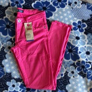 Levi hot pink kids sateen legging regular
